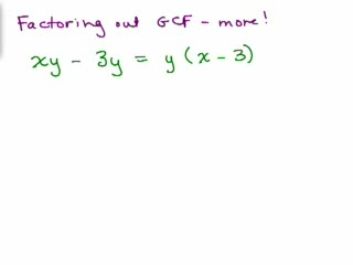 Factoring 3-Factor out GCF - trickier preview image