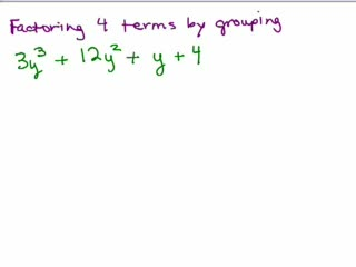 Factoring 4a-Factor 4 terms by grouping preview image