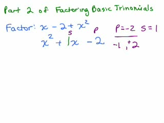 Factoring 7-Basic Trinomials Part 2 preview image