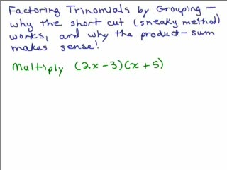 Factoring 11 - Trinomials Part 4 preview image