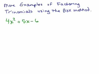 Factoring 13 - Trinomials Part 6 preview image