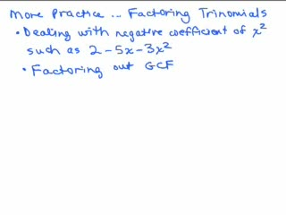 Factoring 14a - Trinomials Part 7 preview image