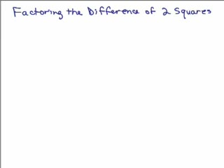Factoring 15a - Difference of 2 Squares preview image
