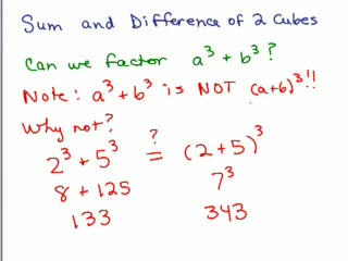 Factoring 18-Sum and Difference of 2 Cubes preview image