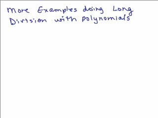 Dividing polynomials using long division-Part 4 preview image