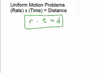 Distance Problem 1 - Uniform Motion rt=d preview image