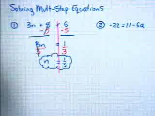 Solving Multi-Step Equations preview image