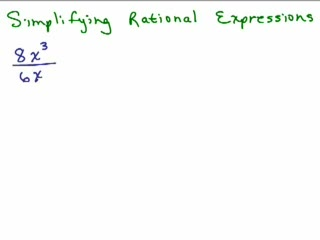 Rational Expressions 2 - Simplifying preview image