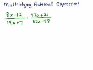 Multiplying / Dividing Rational Expressions videos