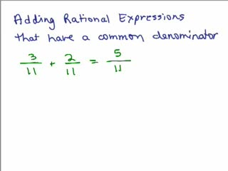 Rational Expressions 5 - Adding with Common Denominator preview image