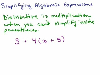 Simplifying Algebraic Expressions preview image