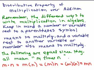 Distributive Property Part 1 - pos numbers preview image