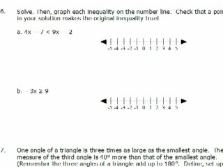 Elementary Algebra Practice Exam Solutions #6-8 preview image