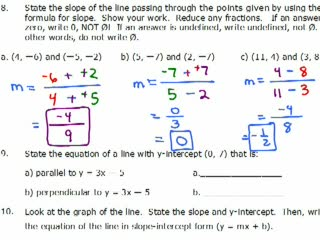Elementary Algebra Practice Exam Solutions #9-14 preview image