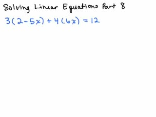 Solving Linear Equations Part 8 preview image