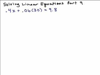 Solving Linear Equations Part 9 preview image