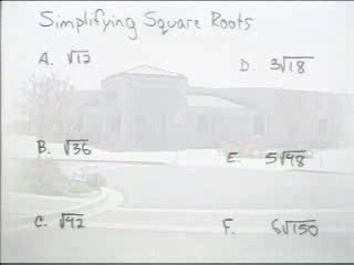 Simplifying Square Roots preview image
