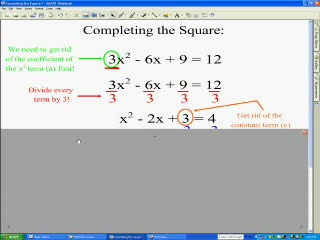 Completing the Square videos