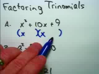 Factoring Trinomials preview image