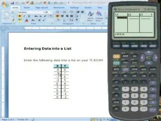 TI-83/84: 1 - Entering Data into a List preview image