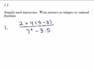 Elementary Algebra Review Part 1 preview image
