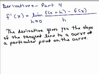 Derivatives and Tangent Lines 4 preview image