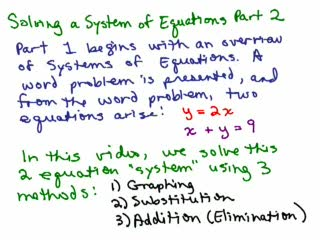 Systems of Equations Overview pt 2 preview image