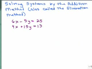 Solving Systems with Elimination videos