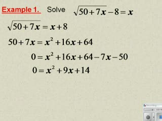 Solving Radical Equations and Inequalities preview image