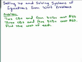 Solving Word Problems with Systems of Equations Set Up pt 1 preview image