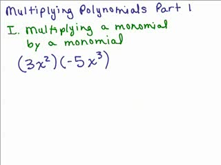 Multiplying Polynomials 1 preview image