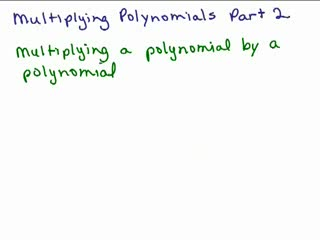 Multiplying Polynomials 2 preview image