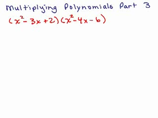 Multiplying Polynomials 3 preview image