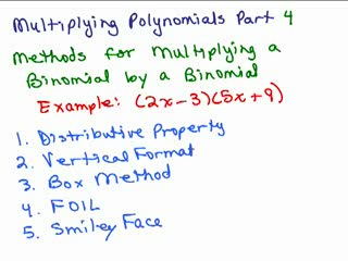 Multiplying Polynomials 4 preview image