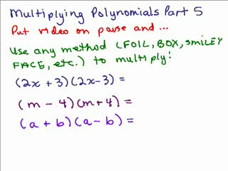 Multiplying Polynomials 5 preview image